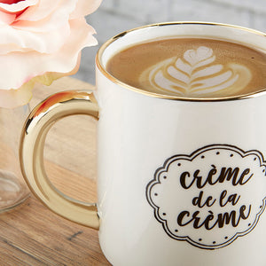 Crème de la Crème 16 oz. Mug with Gold Foil Handle