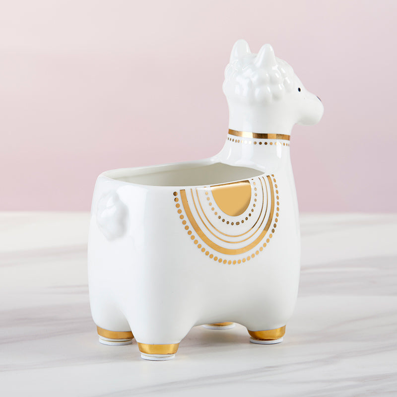 Load image into Gallery viewer, Llama Ceramic Phone Amplifier