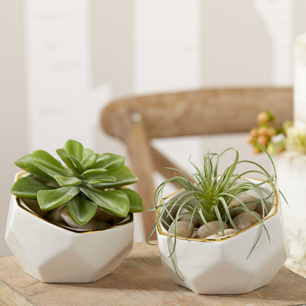 Geometric Ceramic Planter - Small & Medium (Set of 2)