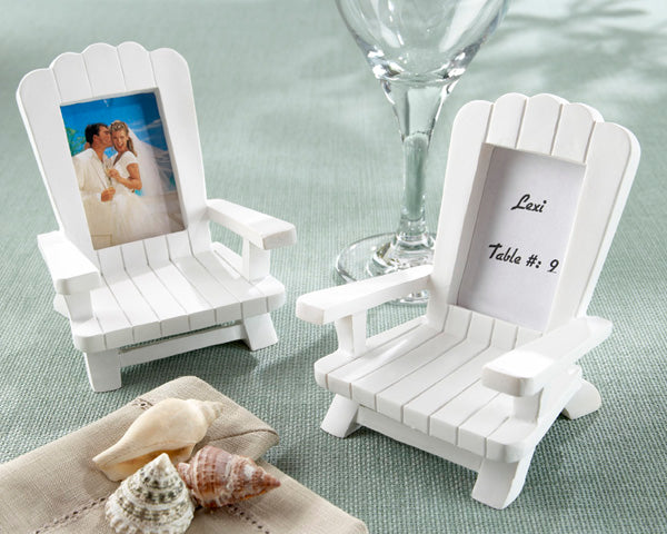 Beach Memories  Miniature Adirondack Chair Place Card Holder