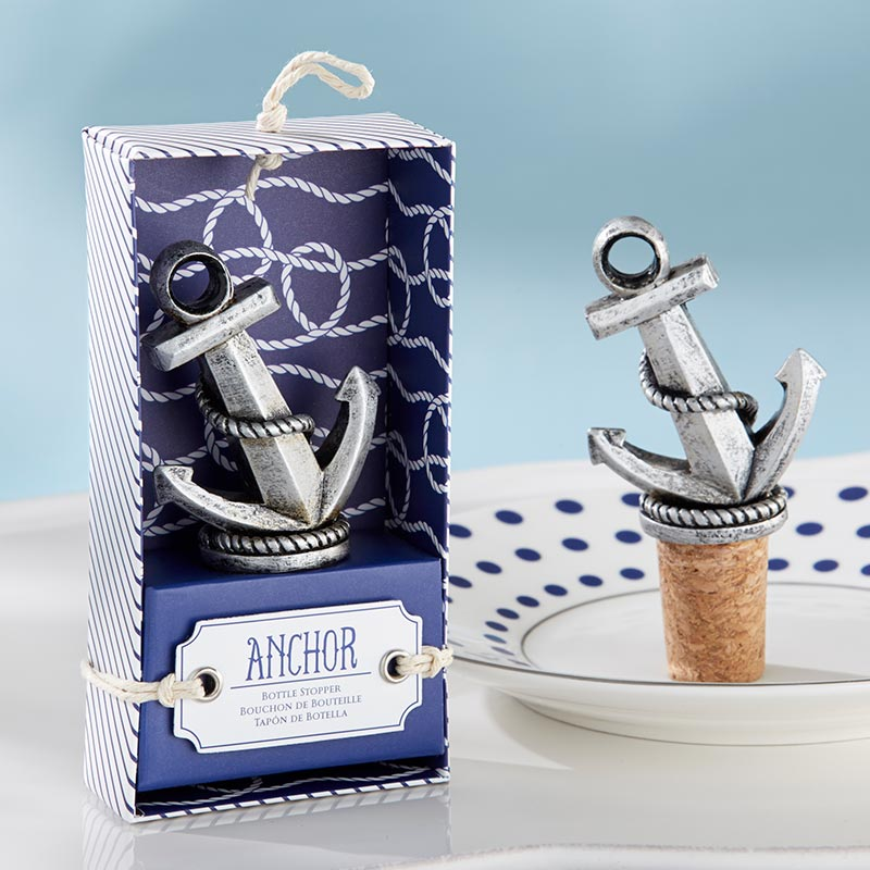 Load image into Gallery viewer, Nautical Anchor Bottle Stopper