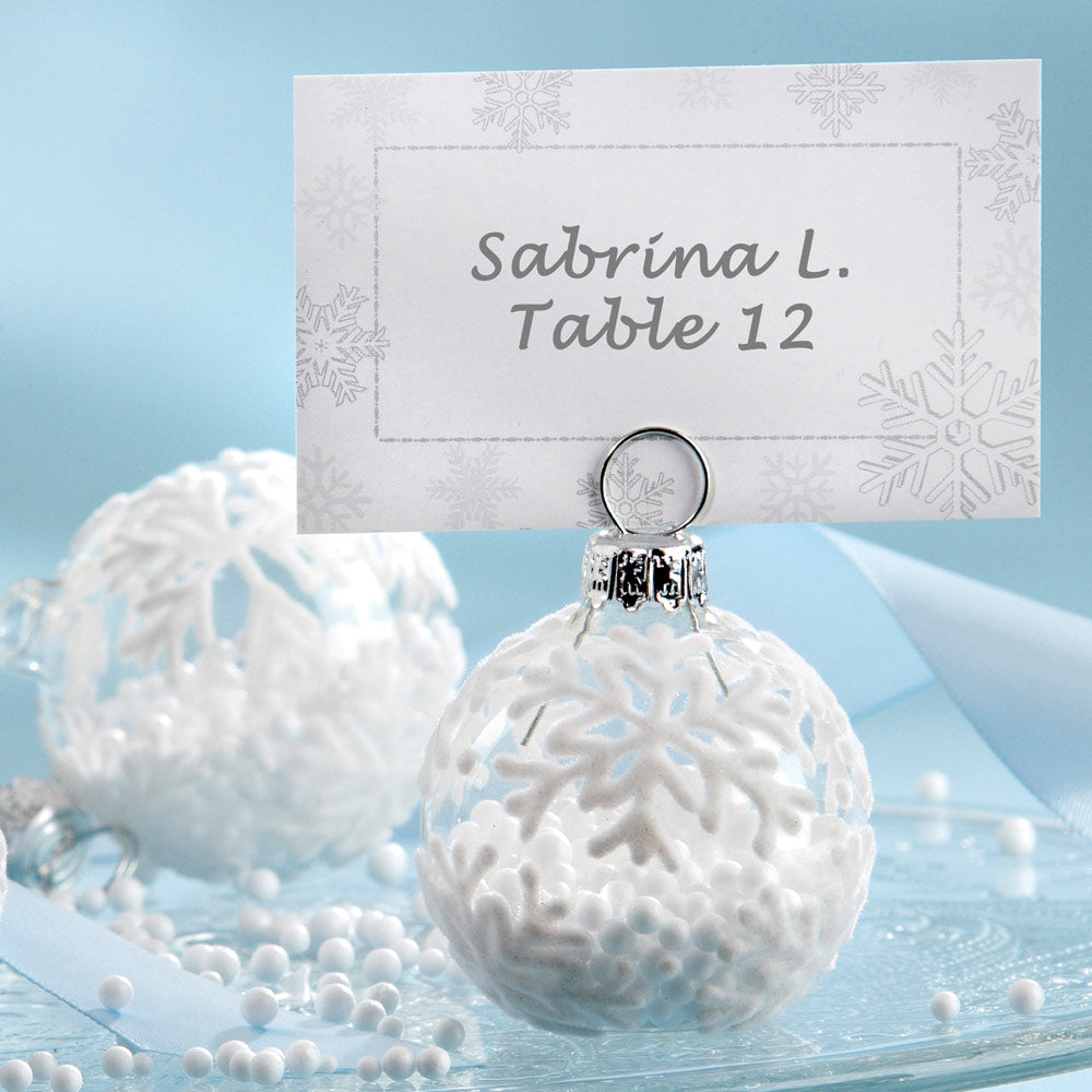 Holiday Ornament Place Card and Photo Holder Favor (Set of 6)