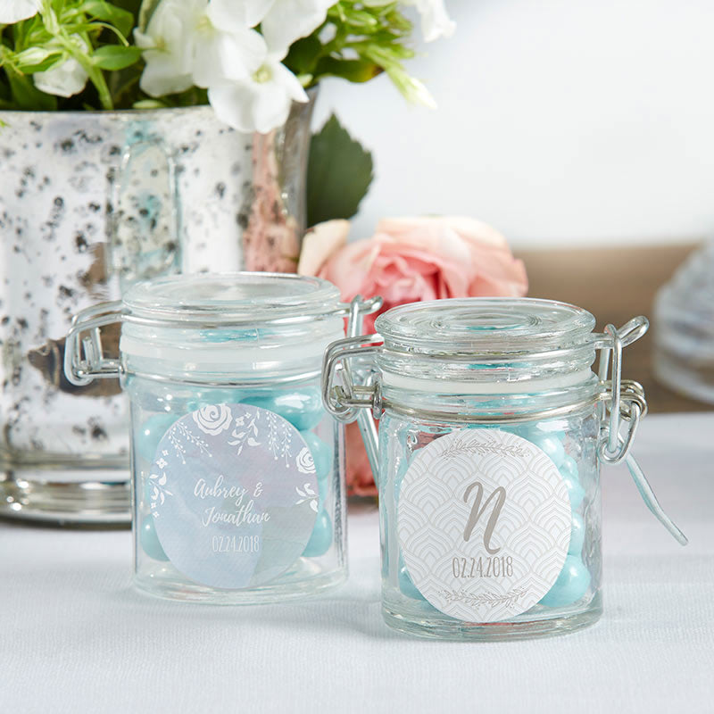 Personalized Ethereal Glass Favor Jars (Set of 12)
