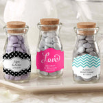 "Personalized Wedding ""Vintage"" Milk Bottle Favor Jar (Set of 12)"