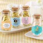 "Personalized Baby Shower ""Vintage"" Milk Bottle Favor Jar (Set of 12)"