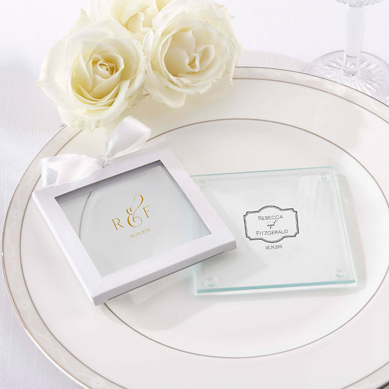 Personalized Classic Glass Coaster (Set of 12)