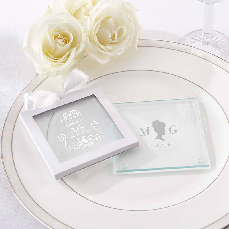 Personalized English Garden Glass Coaster (Set of 12)