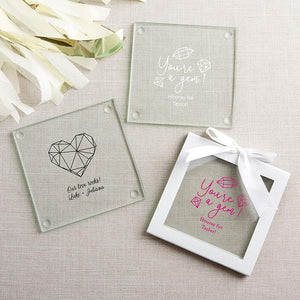 Personalized Elements Glass Coaster (Set of 12)