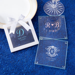 Personalized Monogram Glass Coaster (Set of 12)
