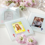 Personalized Religious Frosted Glass Photo Coaster (Set of 12)