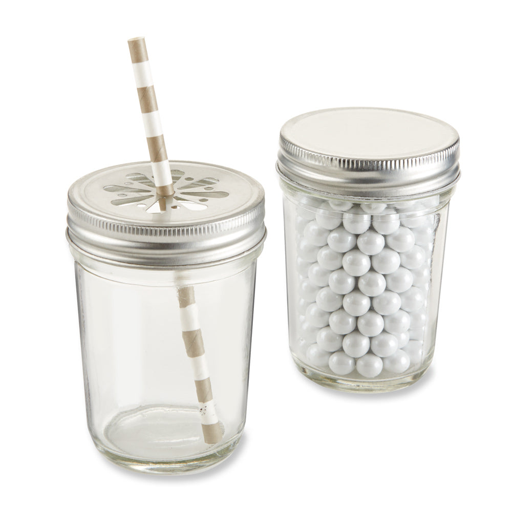 DIY 8 oz. Glass Mason Jar (Set of 12)