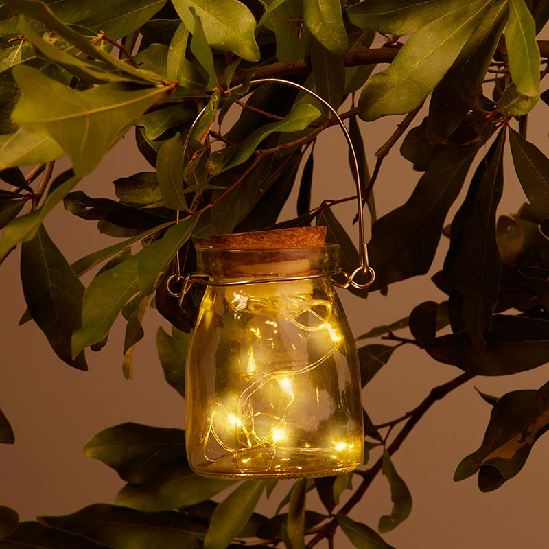 Hanging Clear Jar With Fairy Lights (Set of 4)