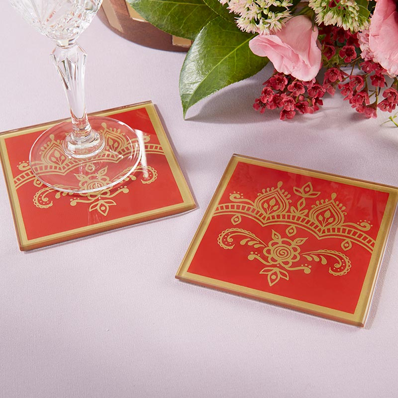 Indian Jewel Glass Coaster (Set of 2)