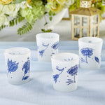 Blue Willow Frosted Glass Votive (Set of 4)