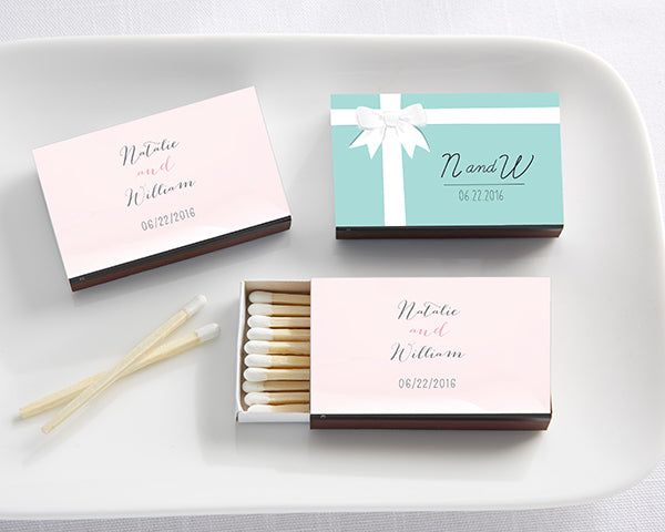 Personalized Wedding Black Matchboxes (Set of 50)