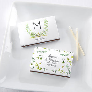 Load image into Gallery viewer, Personalized Botanical Garden White Matchboxes (Set of 50)