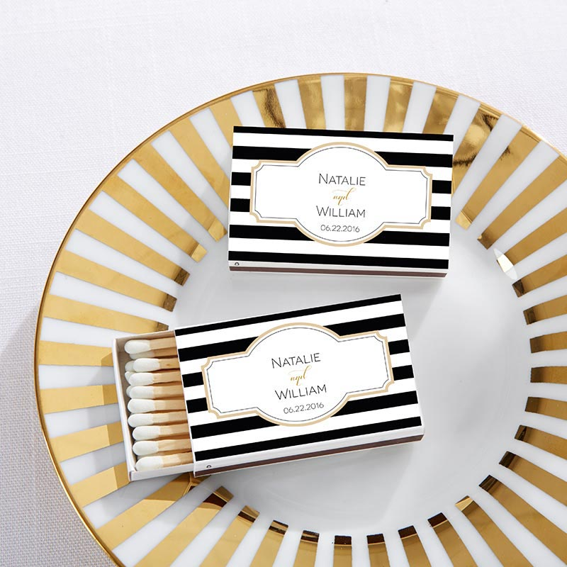 Personalized White Wedding Matchboxes - Classic (Set of 50)