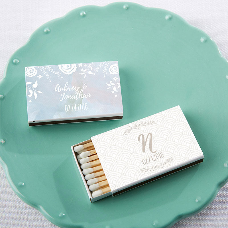 Personalized Ethereal White Matchboxes (Set of 50)