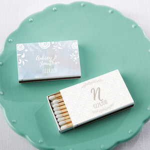 Load image into Gallery viewer, Personalized Ethereal White Matchboxes (Set of 50)