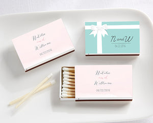 Personalized Wedding Day Designs White Matchboxes (Set of 50)