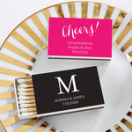 Personalized Wedding White Matchboxes (Set of 50)