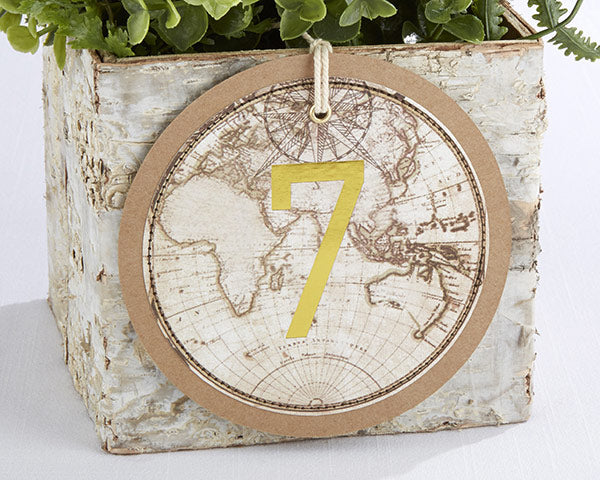 Travel & Adventure Gold Foil Table Numbers (1-18)