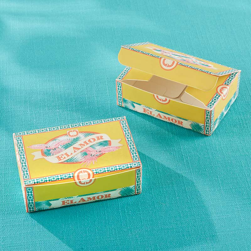 Cigar Box Inspired Favor Box (Set of 24) (Available Personalized)
