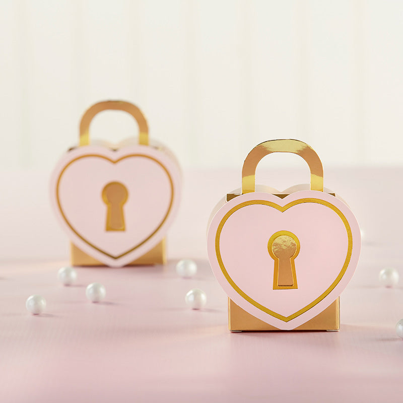 Love Lock Favor Box (Set of 12)