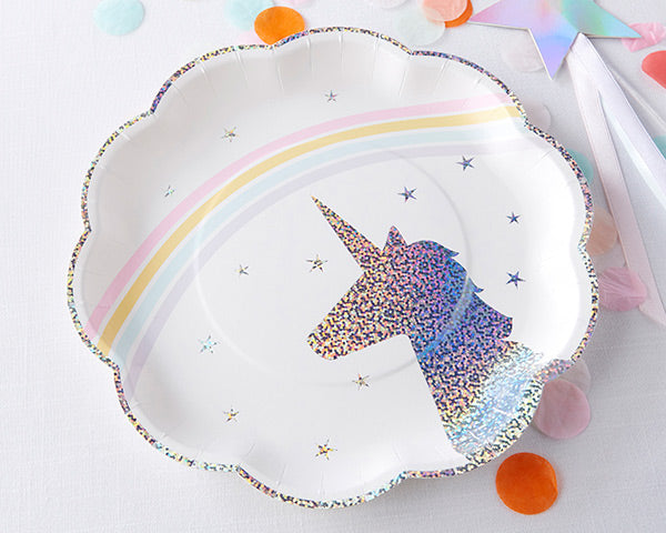Load image into Gallery viewer, Enchanted Unicorn 9 in. Premium Paper Plates (Set of 8)
