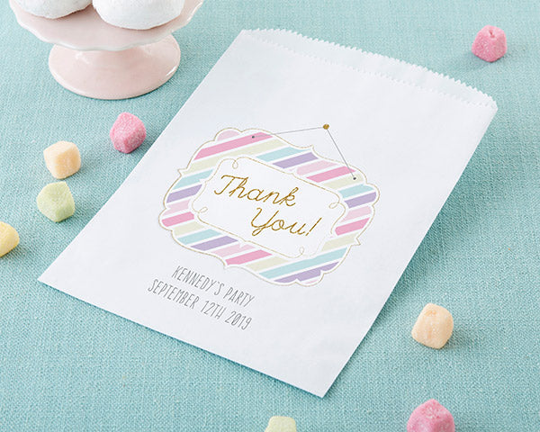 Personalized So Sweet White Goodie Bag (Set of 12)