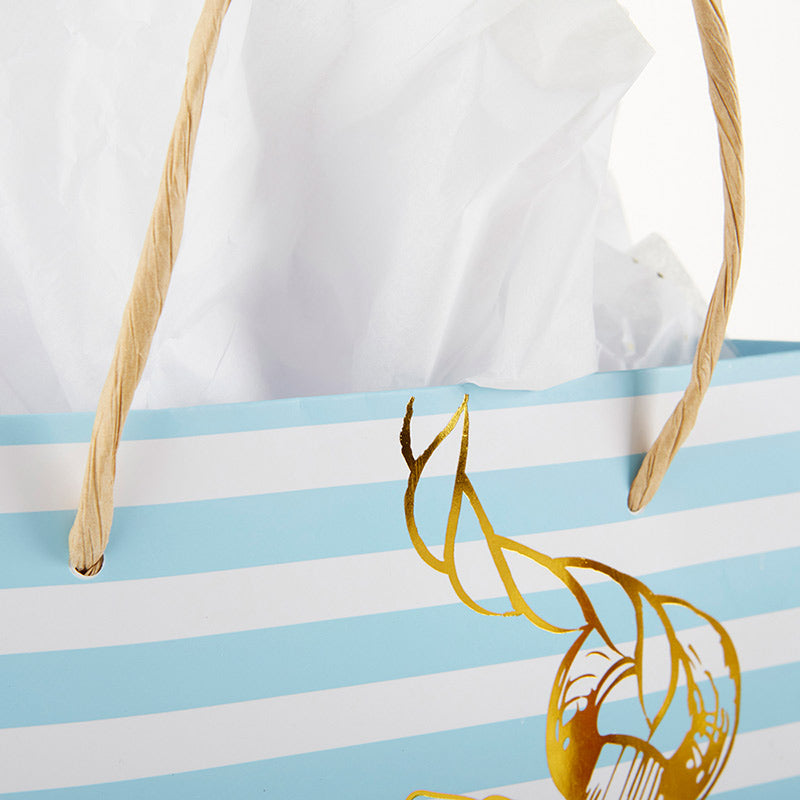 Nautical Anchor Striped Welcome Bag (Set of 6)