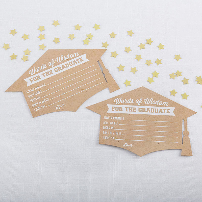 Graduation Advice Card - Cap Shape (Set of 50)