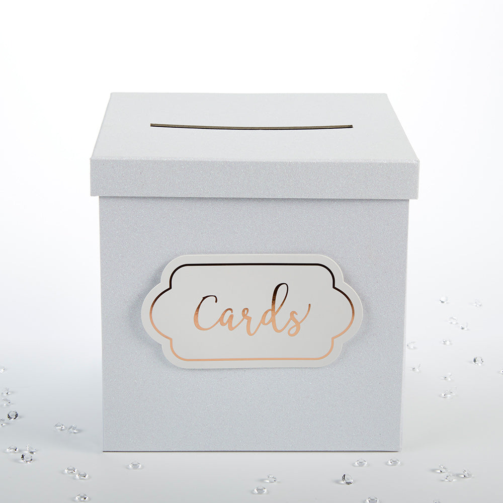 Load image into Gallery viewer, White Glitter Card Box