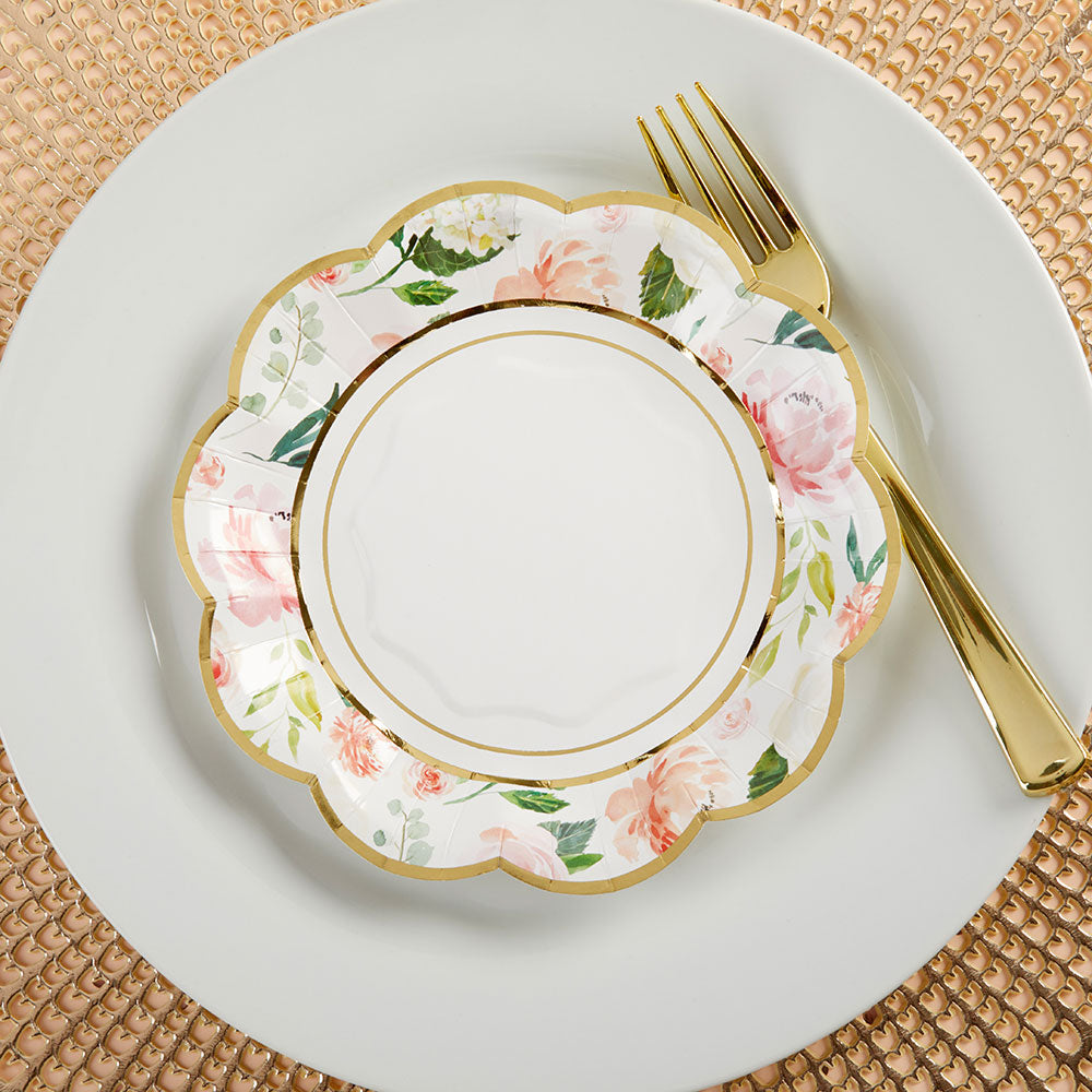 Floral 7 in. Paper Plates (Set of 16)