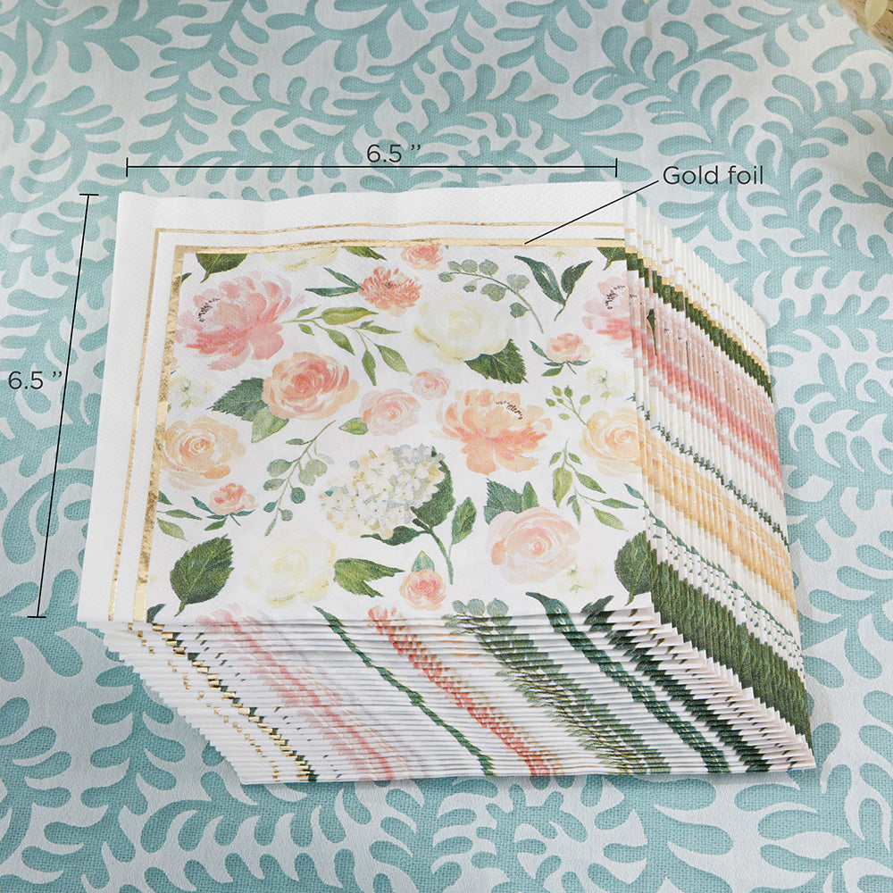 Floral Paper Napkins (Set of 30)