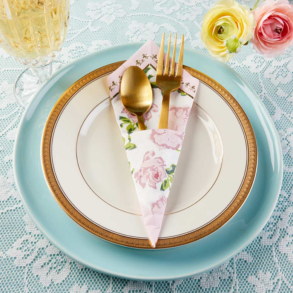 Tea Time Whimsy Napkins - Pink (Set of 30)