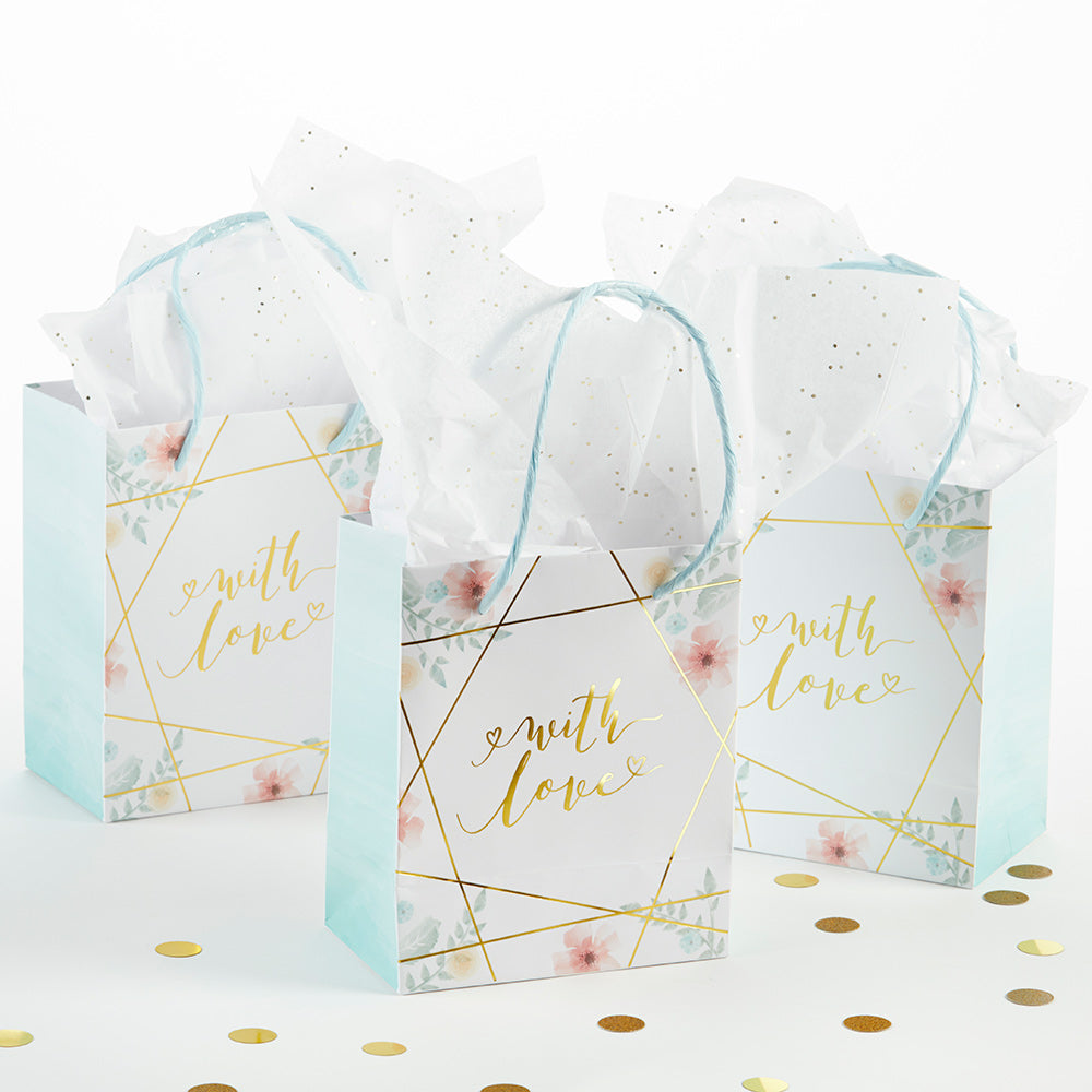 Geometric Floral Gift Bag (Set of 12)