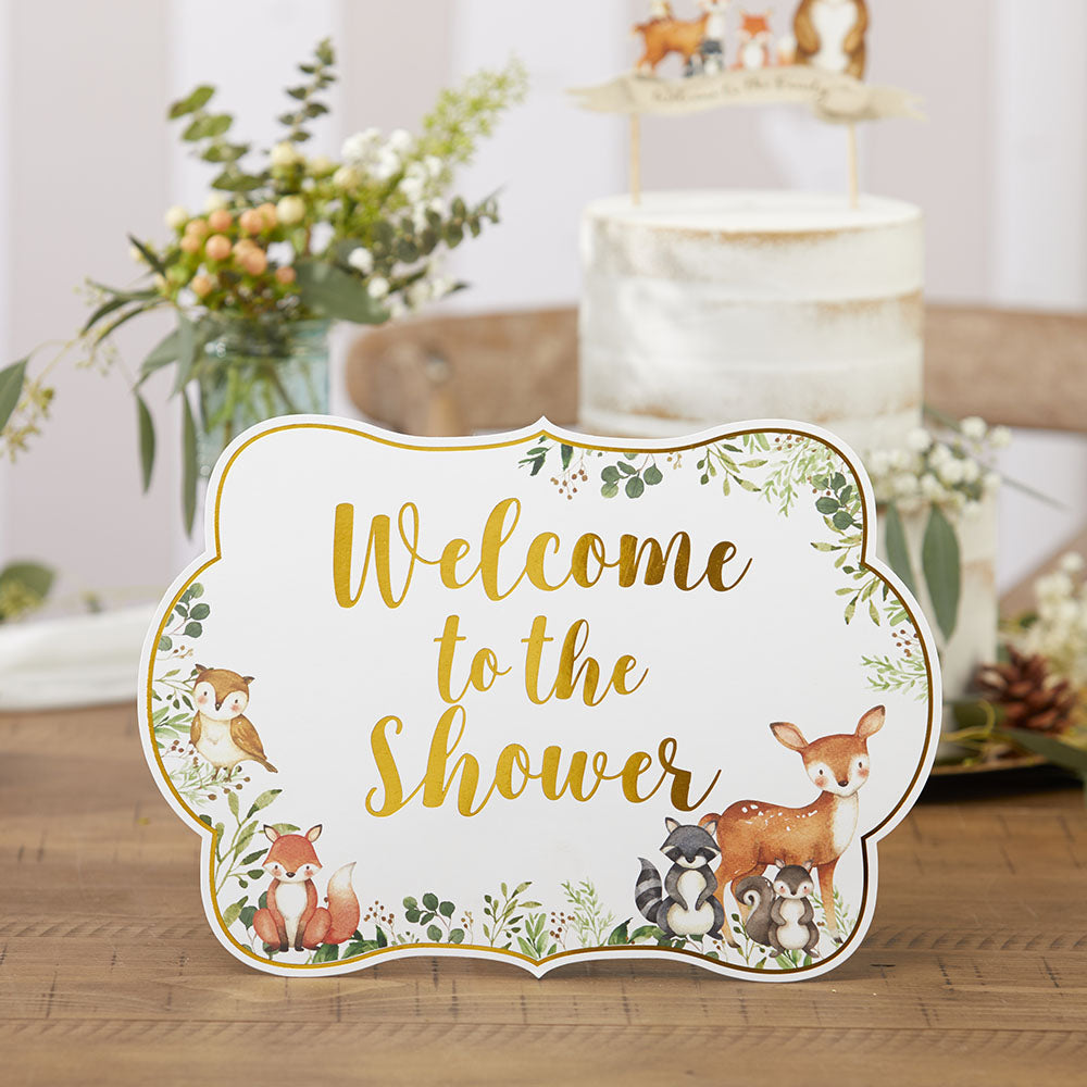 Woodland Baby Décor Sign Kit (Set of 8)