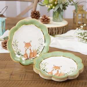 Load image into Gallery viewer, Woodland Baby 7 in. Premium Paper Plates (Set of 16)