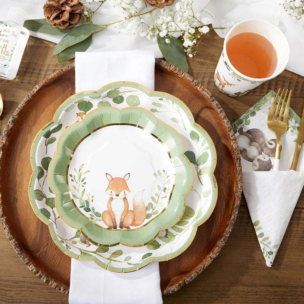 Woodland Baby 7 in. Premium Paper Plates (Set of 16)
