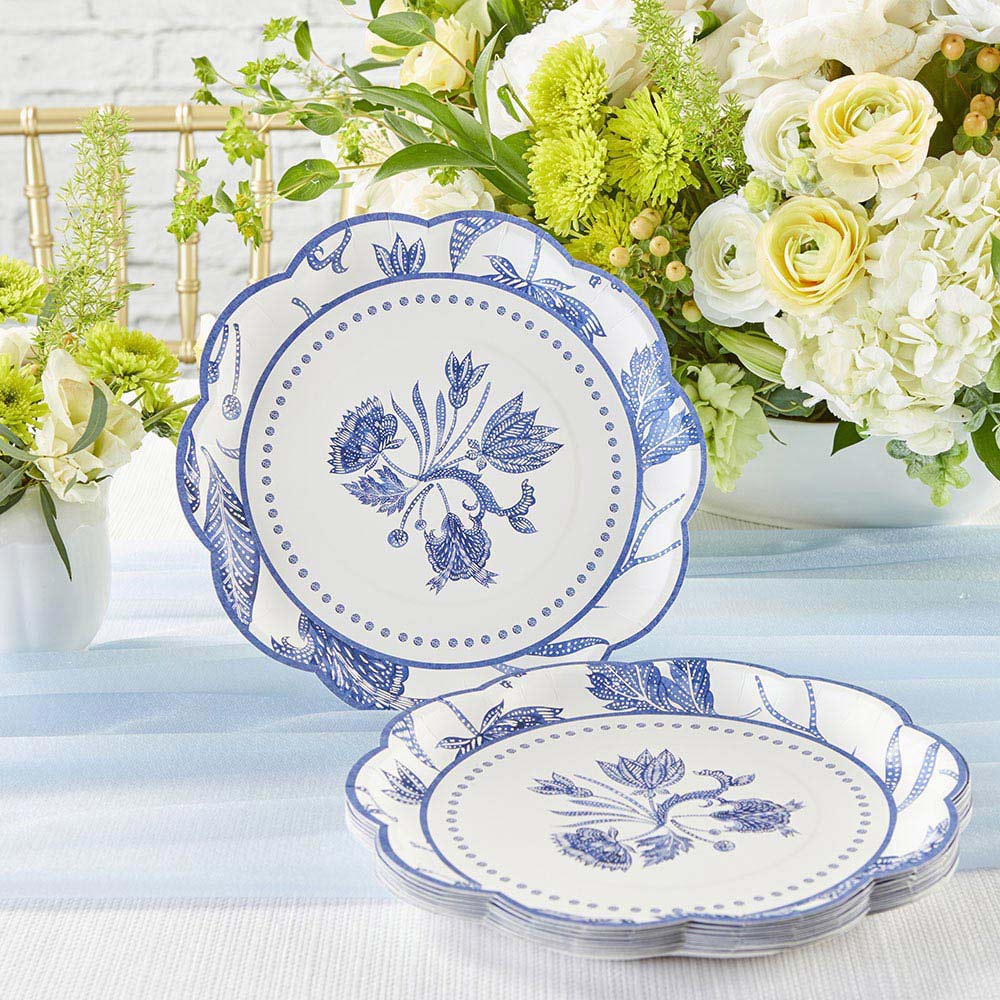 Blue Willow 9 in. Premium Paper Plates (Set of 16)