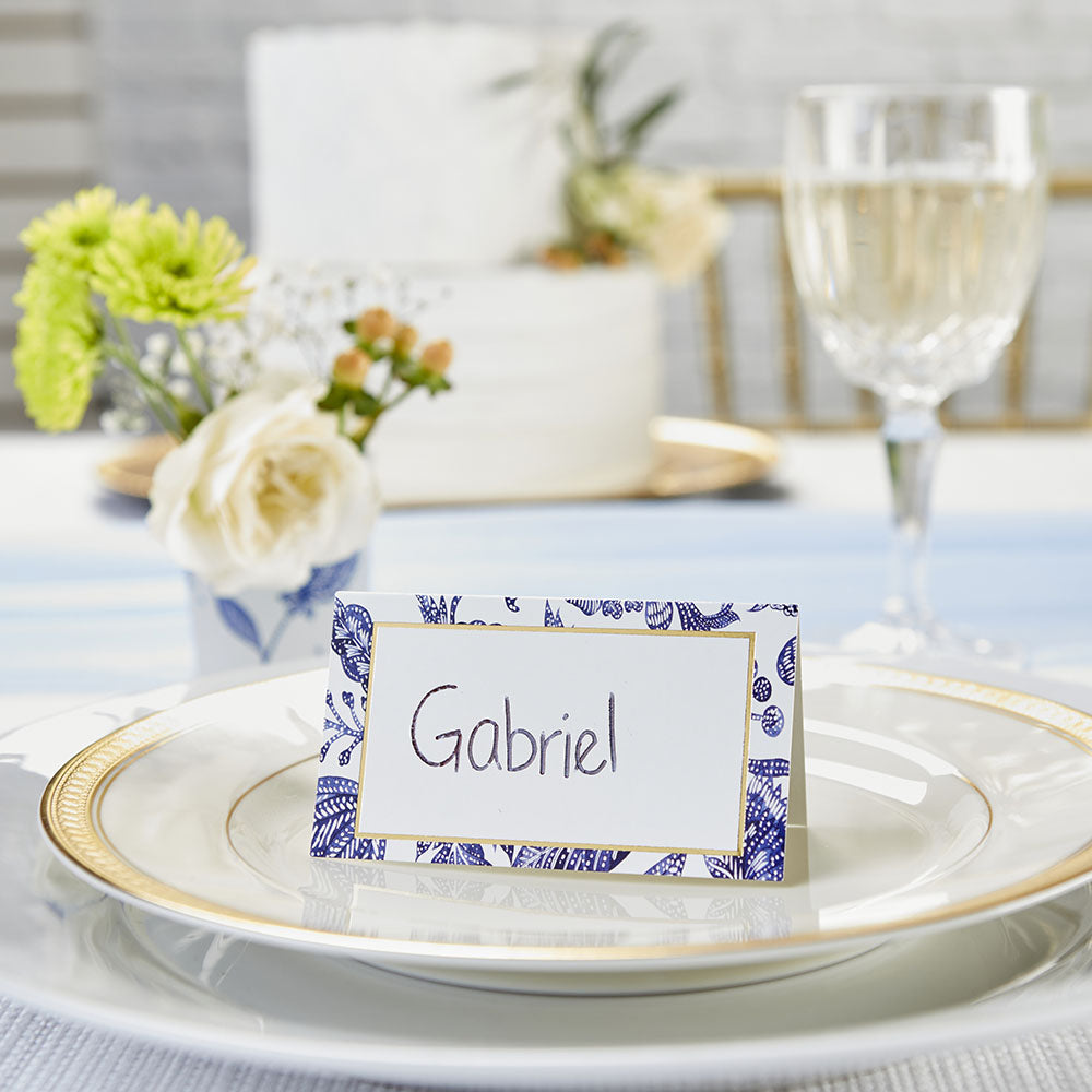 Blue Willow Tent Place Card (Set of 50)