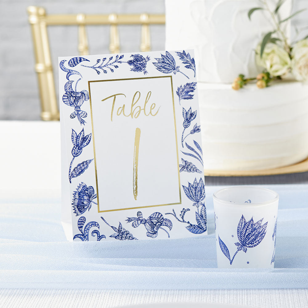 Blue Willow Wedding Table Numbers (1-25)
