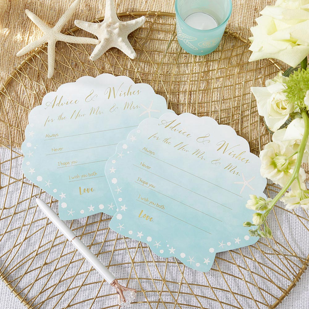 Beach Party Wedding Advice Cards - Sea Shell (Set of 50)
