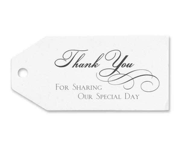 Thank You Favor Tags (Set of 25) | My Wedding Favors