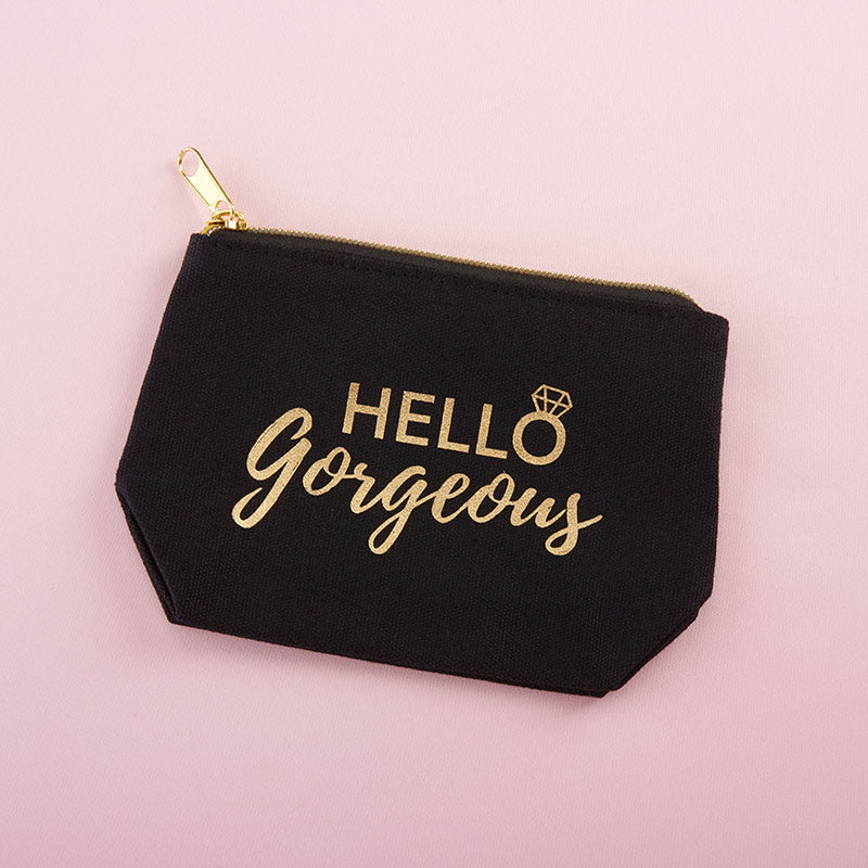 Hello Gorgeous Canvas Makeup Bag