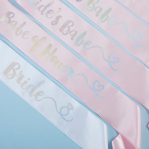 Brides Babes Iridescent Satin Sash (Set of 7)