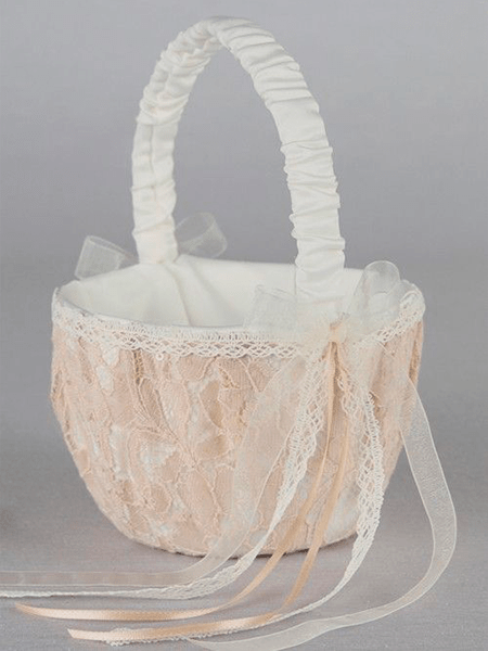 Adelaide Lace Flower Girl Basket