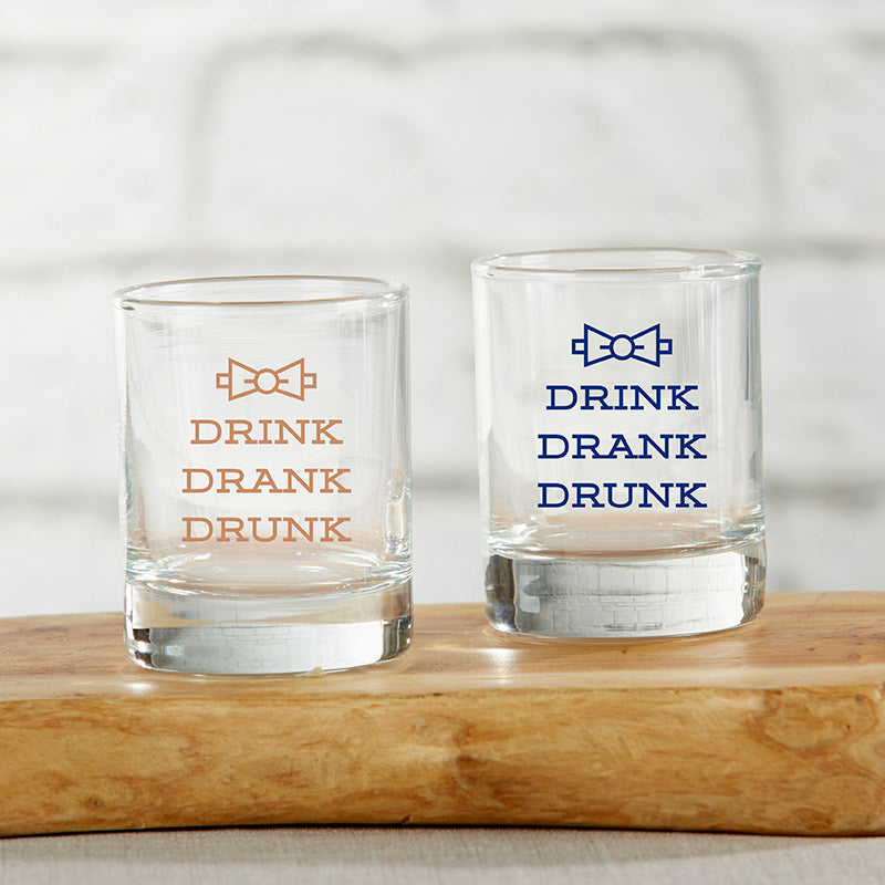 Drink Drank Drunk 2 oz. Shot Glass (Set of 4)