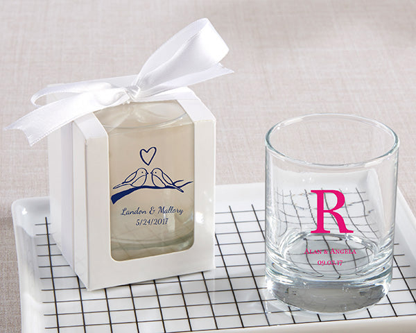 Personalized Wedding 2 oz. Shot Glass/Votive Holder